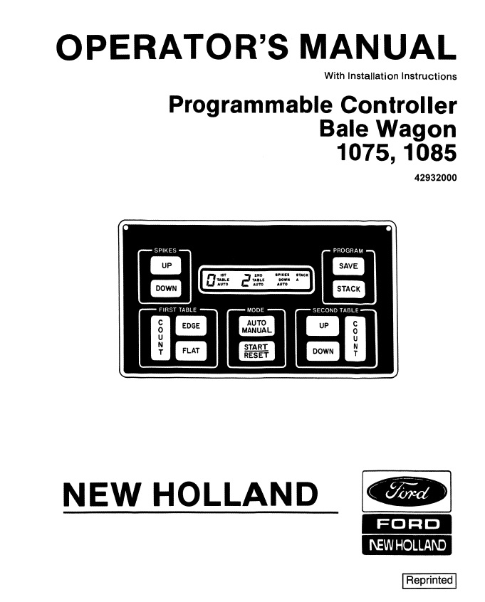 electronic controller operators manual